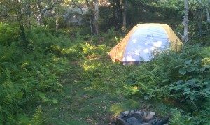 Camp along the Escarpment