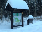 The trail head at the Kelly Cross Country Ski Trail.